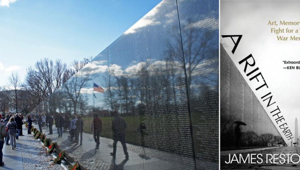 越戰紀念碑(左)及James Reston Jr.最新作品。(圖片來源:wiki、amazon)