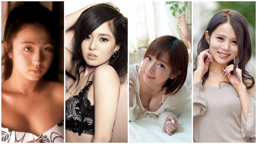 四位出版書籍的AV女優,左起:飯島愛、蒼井空(取自官網)、紗倉真菜(寫真提供:KADOKAWA)、鈴木涼美(取自官網)