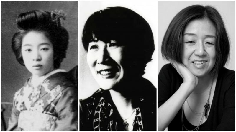 三位日本女作家,左起:森茉莉、津島佑子及井上荒野
