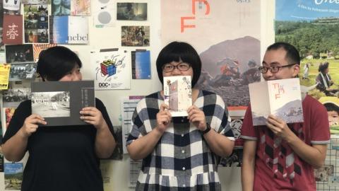 台灣國際紀錄片影展(TIDF)工作人員,左起林姿吟、陳Juli、林佑運(TIDF提供)